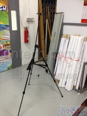 Easel stand for foam board - side view