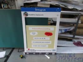 Instagram cut out foam board