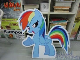 My Little Pony cut out on foam board