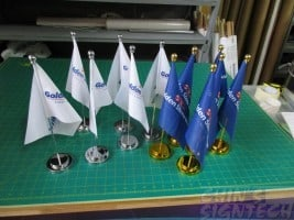 Table flags - Gold and Silver