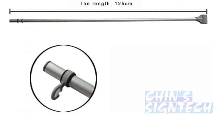 5m Flag Pole With Water Tank - top bar (2)