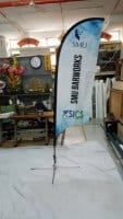 4.7m single sided Feather flag
