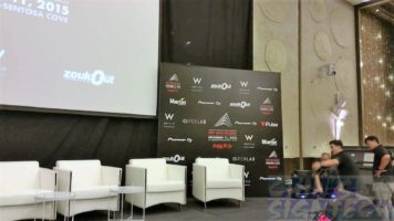 Disposable Foam Board Backdrop for Zoukout at Sentosa W Hotel stage