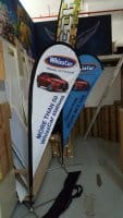 Double sided Small size Teardrop Bannerfor Car Sale promotion