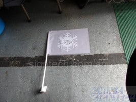 Vehicle windscreen Car flag