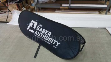 Pop Out A Frame Banner - Medium Sabre authority