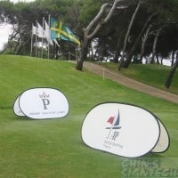A frame pop up banner at Golf Course