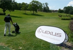 pop out banner display - lexus