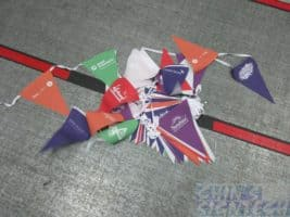 Triangle buntings flag