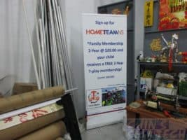 2 x 0.85m Pull up banner for Home Team NS