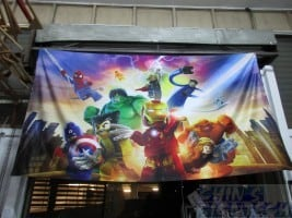 9ft Fabric printing with Lego Marvel Heroes