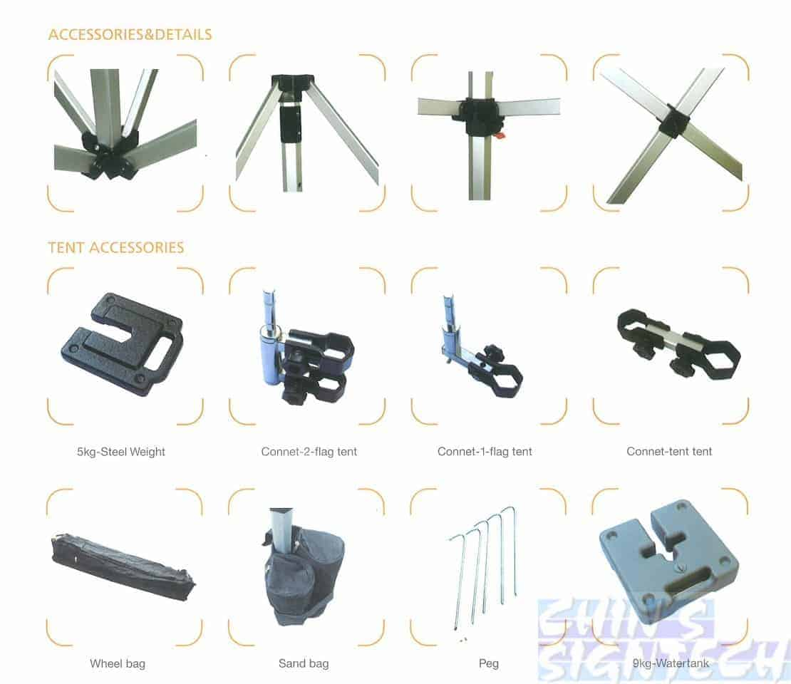 Accessories for Aluminum tent