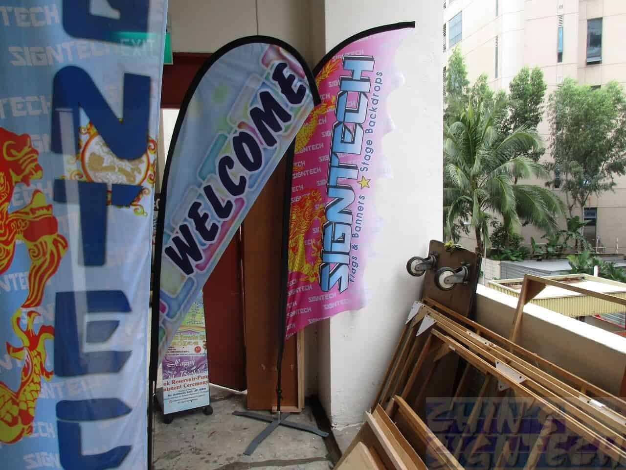 Teardrop Flying Banner - 2.2m Small size