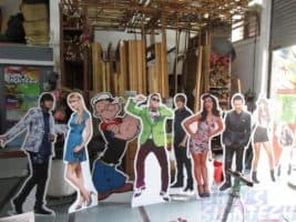 Multi Super stars Foam board standee