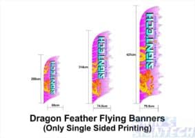 dimension for Dragon Feather Flying Banners