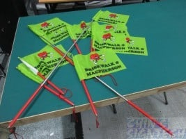 telescopic tour guide flag on polyester flag material