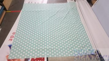 2.9 x 2.5m Photo booth backdrop with polka dot design printed on fabric