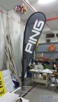 Medium size Teardrop banner for PING