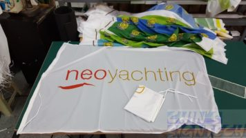 Nero Yatching Flag on 100 GSM Fabric