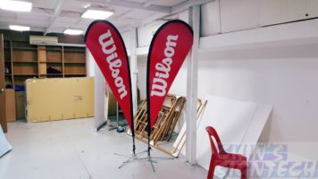 Teardrop banner For Wilson brand - Small size 2.2m
