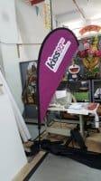 2.2m teardrop banner - Kiss 92FM