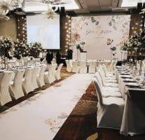 Wedding Aisle Runners with backdrop