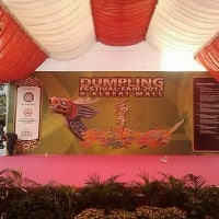 Stage backdrop for Dumpling Festival