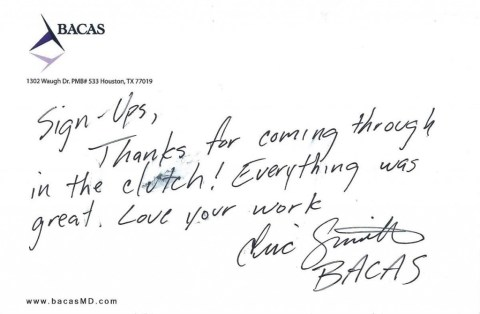 Bacas MD Testimonial for Professional Banners