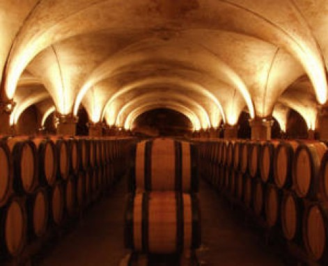 Wall murals: Wine Barrels on a wall mural done by Sign-Ups and Banners Corp.