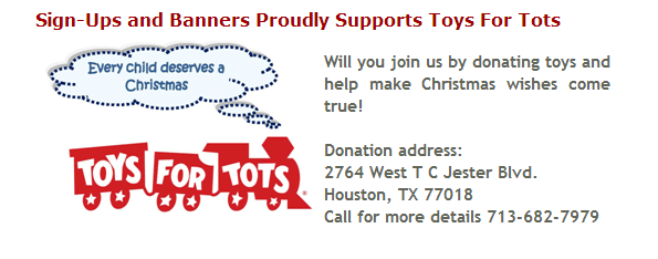 Sign-Ups Supports the Marines Toys For Tots