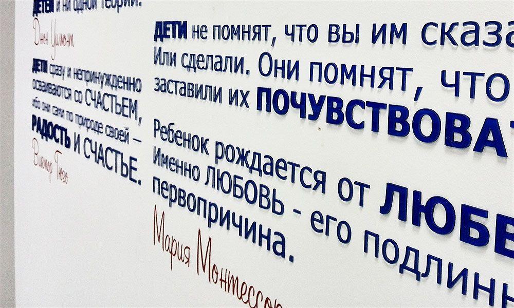 интерьерная вывеска loquar акриловые буквы