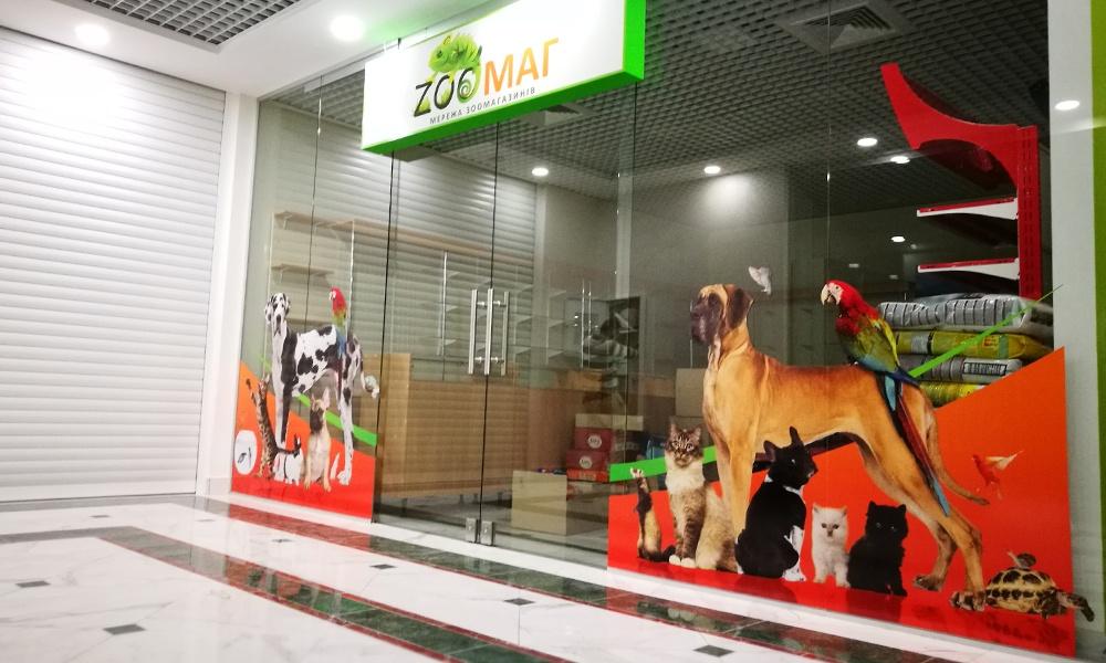 Комплексное рекламное оформление магазина Одесса
