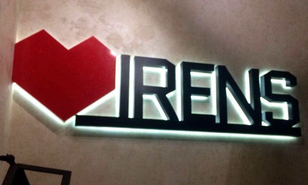 Интерьерная вывеска Irens