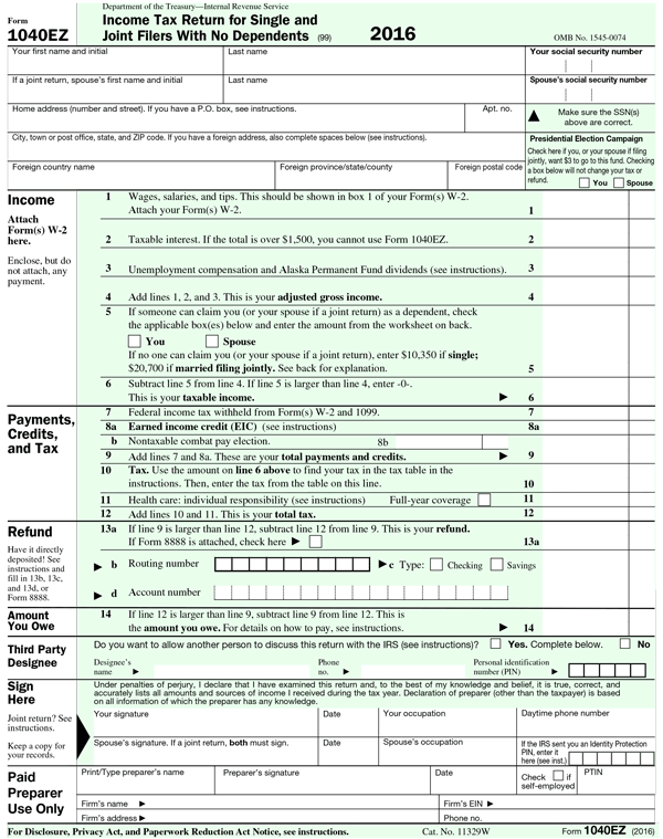 1040ez Tax Form Example on print instructions, modified agi worksheets for, repayment limitation, tax credit, application table, federal poverty table, percentage table, www.irs.gov, instructions pages, federal poverty line table,