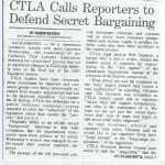 CTLA calls reporters