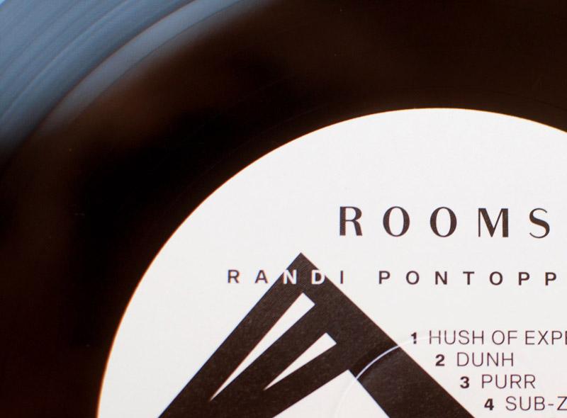 vinyl label for Randi Pontoppidan, close up