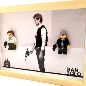 Cuadro minifigura Star Wars Han Solo (Episodio IV y VII) - Versión 2