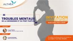 """ندوة تواصلية افتراضية : """"الاضطرابات العقلية خلال  الحمل و ما بعد الولادة"""""""