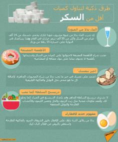 نصائح لتناول كميات أقل من السكر