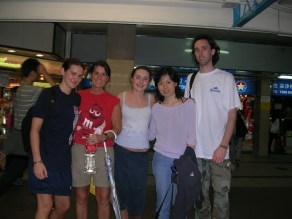 When we had completed her four-day, introductory crash course to the marvels of Sandra's birth city, the five of us said goodbye at the front entrance to the subway station.