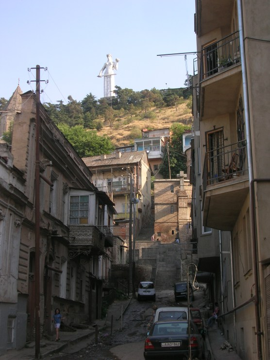 The towering statue of Mother Georgia, Tbilisi