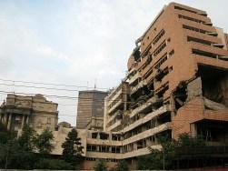 Belgrade destroyed building