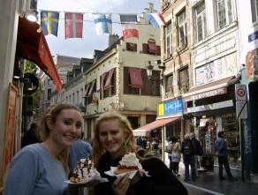 Belgium waffles in Brussels