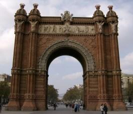 The Arc de Triomf in Barcelona,