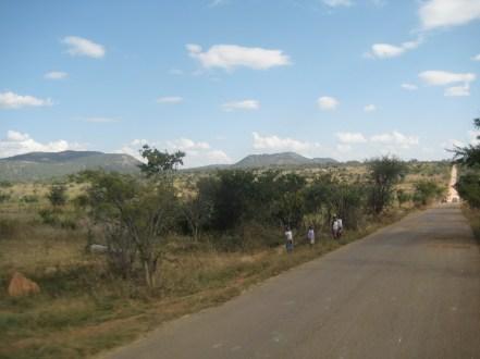 Driving south through Angola to Namibia