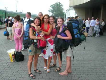 backpacks and bra straps. Semey, Kazakhstan