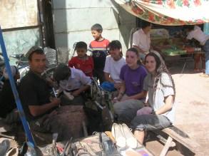 shoe repair shope Kashgar, China