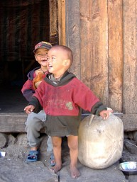Children of the Himayans Nepal. Backpacks and Bra Straps