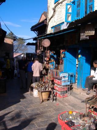 Kathmandu, Nepal. Backpacks and Bra Straps