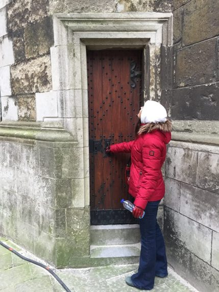 How can you NOT wonder; How old is this door? Who made it? Where does it lead? What stories could it tell?